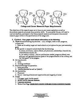 Common Core College and Career Research Paper