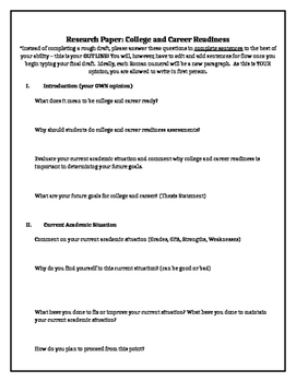 College and Career Research Paper
