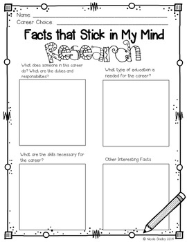 College and Career Research Project (aligned with the CCSS Grades 3rd-5th)