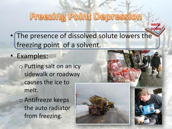 Colligative Properties: Freezing Point Depression and Boil