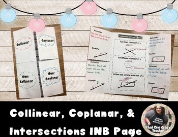 Collinear, Coplanar, & Intersections Interactive Notebook Page