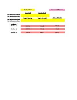 Collision Course Elastic Collisions Grading Spreadsheet