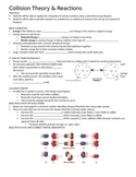 Collision Theory and Reactions Guided Notes (Goes along wi