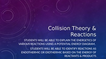 Collision Theory and Reactions PowerPoint (Goes along with guided notes)