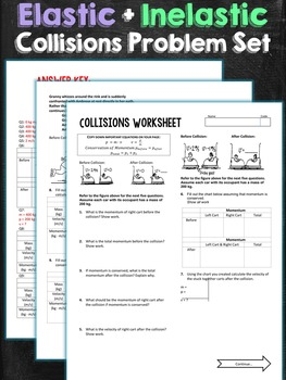 Collisions Problem Set Worksheet