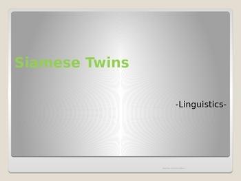 Collocations. Siamese Twins