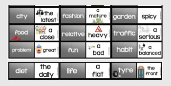 Collocations : adjectives and nouns (Dominoes)