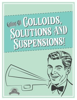 Colloids, Suspensions, and Solutions Lab {Editable}