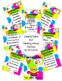 Coloful Polka Dot Thinking Stems Posters