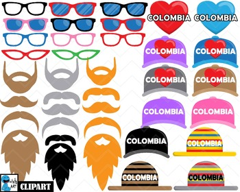 Colombia Props - Clip Art Digital Files Personal Commercial Use cod258