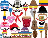 Colombia Props - Clip Art Digital Files Personal Commercia