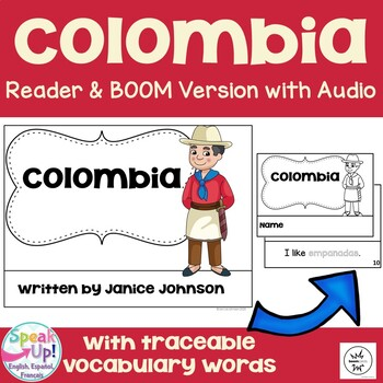 Colombia Reader {English Version} & Vocab work ~ Simplified for Young Learners