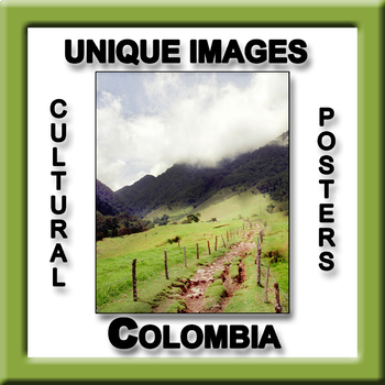 Colombia in Photos Poster - Vertical