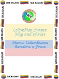 Colombian Frame: Flag and Phrase QUE BACANO!