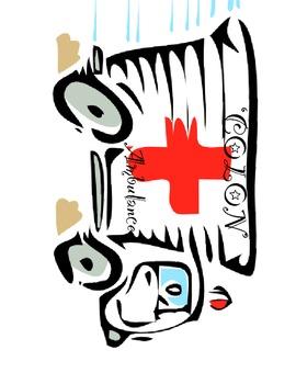 'Colon' Ambulance File folder game, Colon Rules Reinforcem