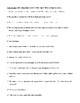 Colon Rules, Review Worksheet, and Answer Key