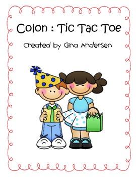 Colon Tic Tac Toe Game