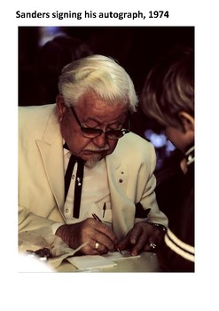 Colonel Sanders Handout