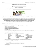 Colonial Advertisement Project Description, Graphic Organizer and Rubric