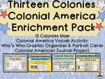 Colonial America 13 Colonies