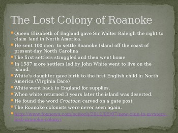 Colonial America (1587-1770) Powerpoint Presentation