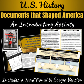 Colonial America: British Documents that helped shape America Activity