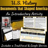 U.S. History: British Documents that helped shape America ~Intro Activity~