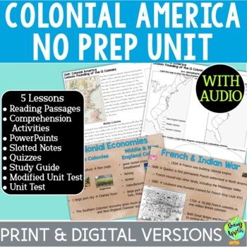 Colonial America Bundle, 13 Colonies Bundle