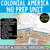 Colonial America; 13 Colonies Bundle; Distance Learning; D