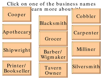 Colonial America Businesses Power Point