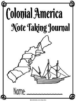 Colonial America CKLA Note Taking Journal