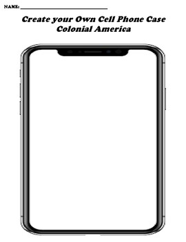 Colonial America CREATE YOUR OWN CELL PHONE COVER