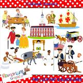 Colonial America clip art