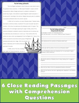 Colonial America Close Reading Passages