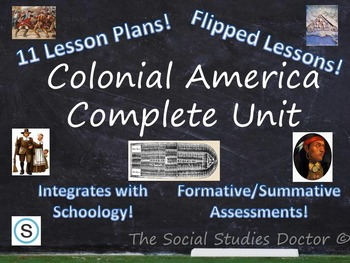 Colonial America Complete 11-Class Unit (With optional flipped lessons!)