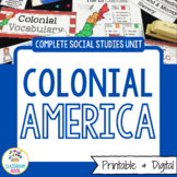 Colonial America Unit | Printable & Digital | Distance Learning