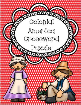 Colonial America Crossword Puzzle