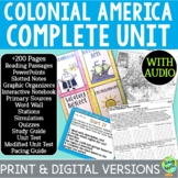 Colonial America Curriculum; Distance Learning; Digital Learning