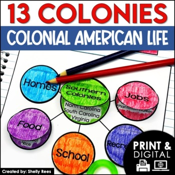 13 Colonies Interactive Notebook and Mini Unit - Colonial Life