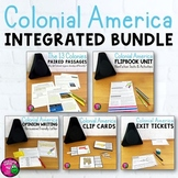Colonial America & ELA Integrated Bundle: Reading, Writing & Social Studies