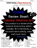 Colonial America Era, STAAR Review Sheet