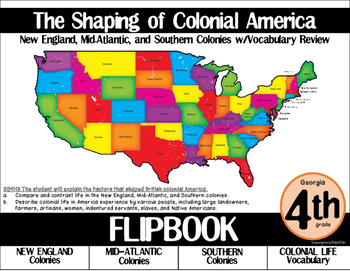 Colonial America Flipbook: New England, Mid-Atlantic, and