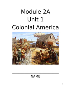 Colonial America Guided Packet
