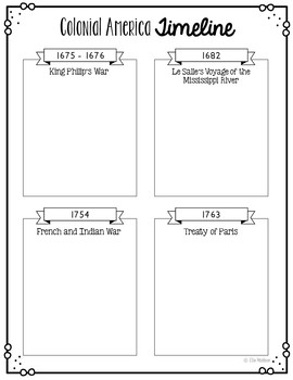 Colonial America Project, History Research with Interactive Notebook Option