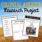 Colonial America Project, History Research with Interactiv