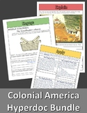 Colonial America Hyperdoc Bundle: 13 Colonies Regions