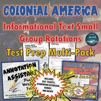 Colonial America: Informational Text Small Group Rotations Multi-Pack