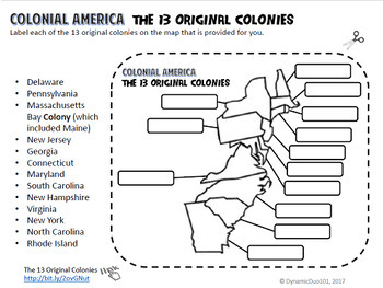 Colonial America Interactive Activities with Test Prep & Primary Source Packet