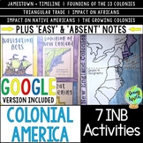 Colonial America Interactive Notebook Activities, 13 Colon