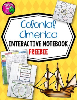 colonial america interactive notebook freebie 5th grade tpt
